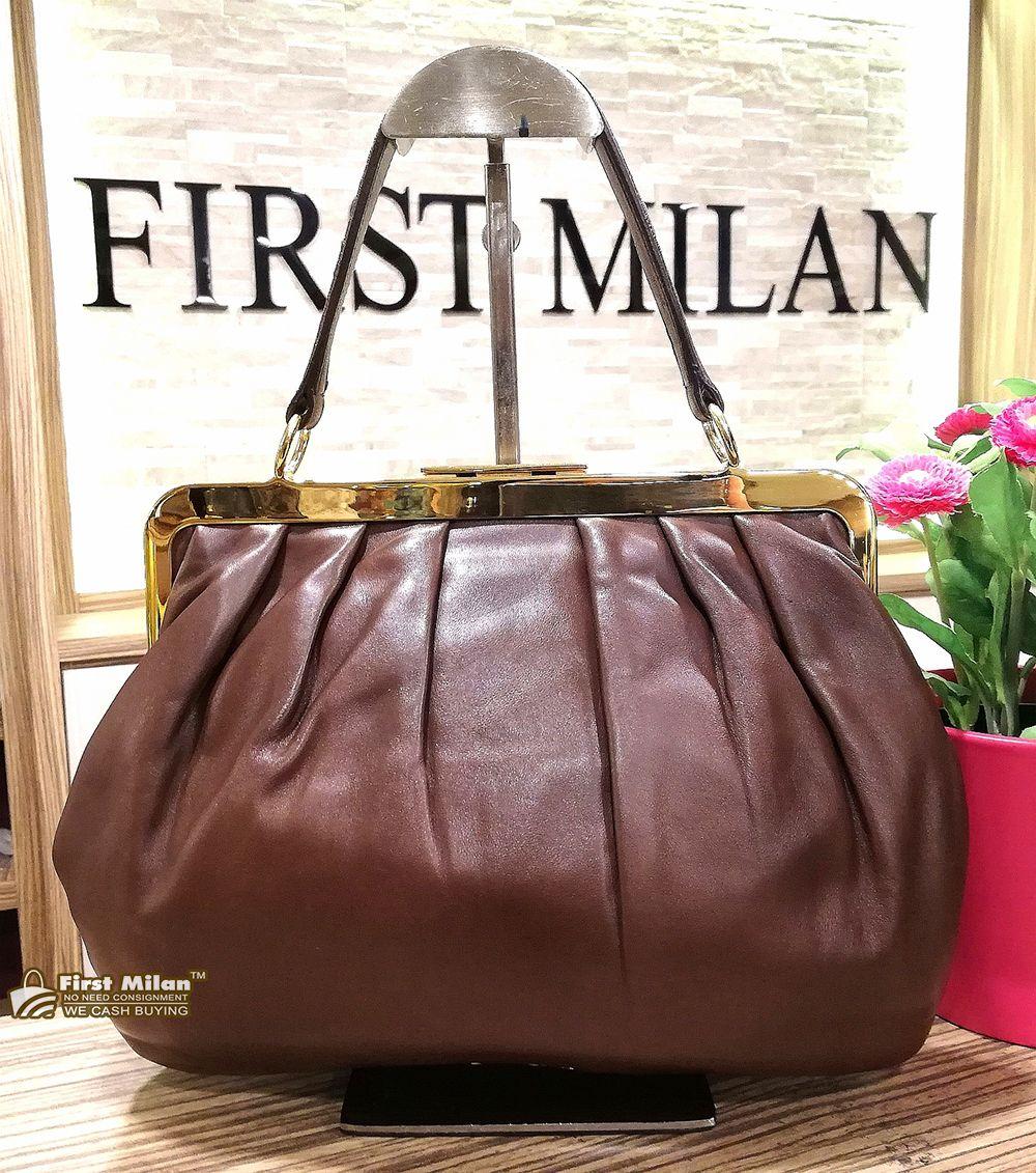 40f5e1c64708 MIU-MIU Brown Top Handle Bag. Price RM1