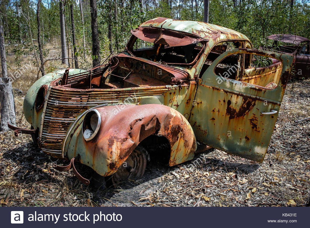 Vintage Rusty Car Abandoned In The Bush Australiastock Photo With