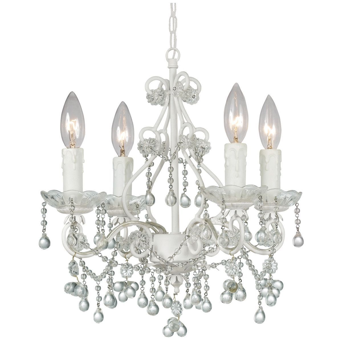 Crystorama paris market 4 lights clear crystal white mini chandelier crystorama paris market 4 lights clear crystal white mini chandelier arubaitofo Images