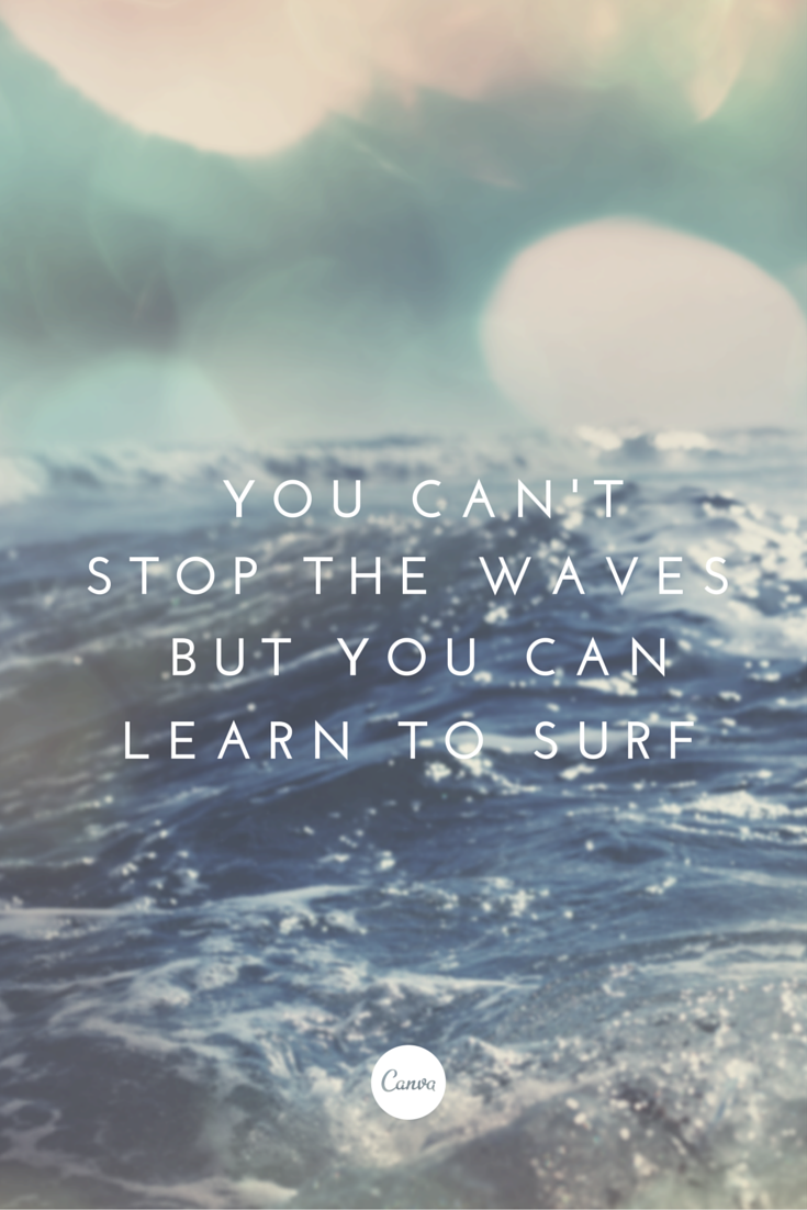 Quote Adversity, Graphicdesign Quote, Learn To Surf Quote, Beach Quotes,  Booksu2026