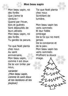 Chanson De Mon Beau Sapin Recherche Google La Langue Française
