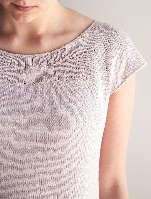 PDF Download. Summer Cotton Tee Sweater Knitting Pattern