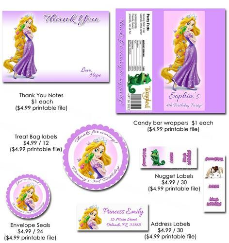 Rapunzel Tangled Invitation Printable Birthday Party YouPrint