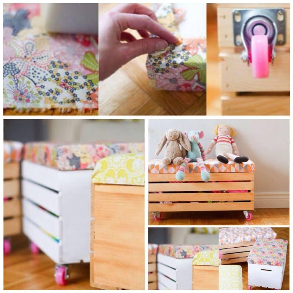 Cajon de verduras convertido en mueble para chicos for Diseno de muebles con cajones de verduras