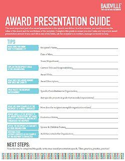 Free Award Presentation Guide Easy To Adapt To Student Organizations
