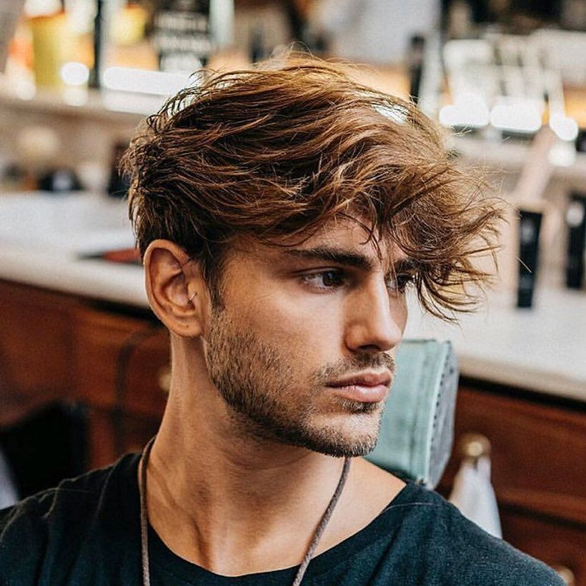 32 men messy hairstyle to look cool this fall