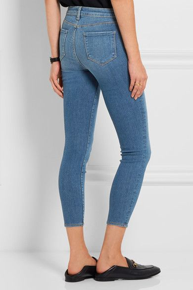 The Margot Cropped High-rise Skinny Jeans - Mid denim L'agence GXDkpHIW