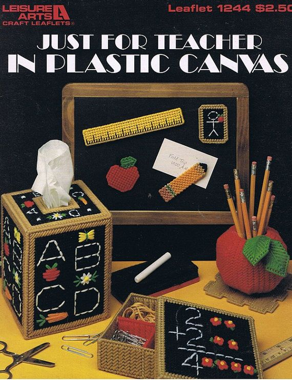 Leisure Arts Just For Teachers Plastic Canvas Gifts Patterns 1244 Dick Martin
