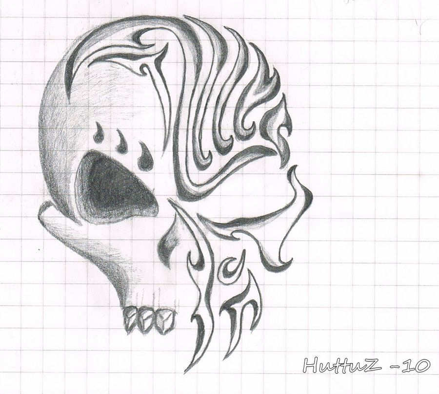 Awesome Drawings Of Skulls