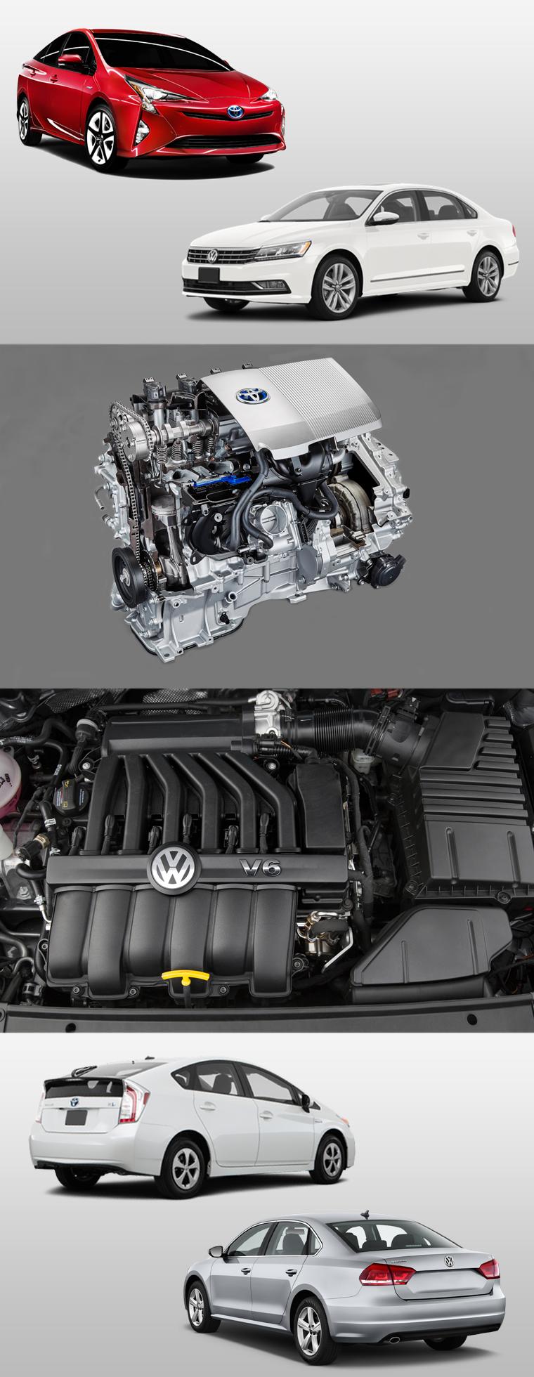 Volkswagen Passat vs. Toyota Prius. Which is Best? Let's