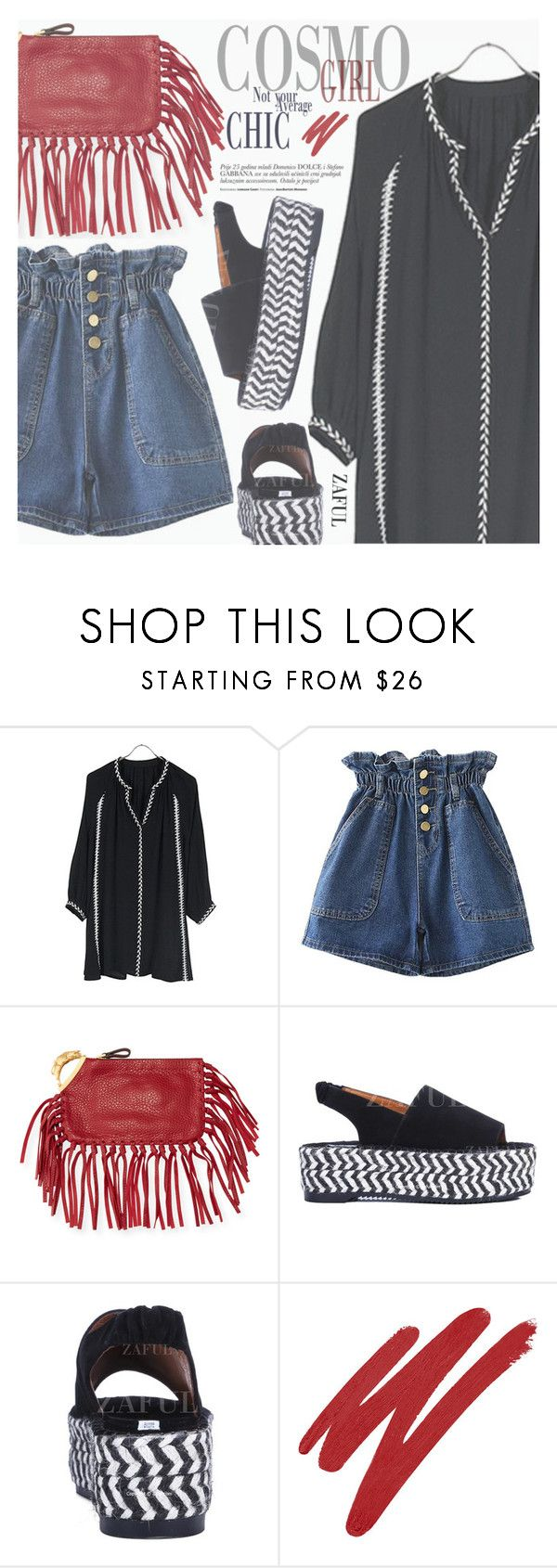 """Boho"" by pokadoll ❤ liked on Polyvore featuring Valentino, NARS Cosmetics, polyvoreeditorial, polyvorefashion and polyvoreset"