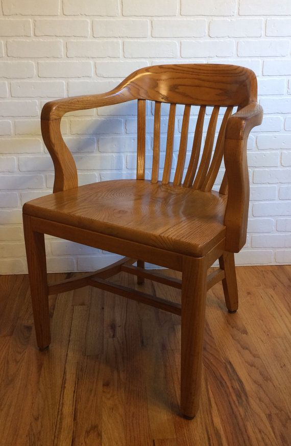 Captivating Vintage Bankers Chair/ Library Chair/ Boling Chair By 9LivesDecor