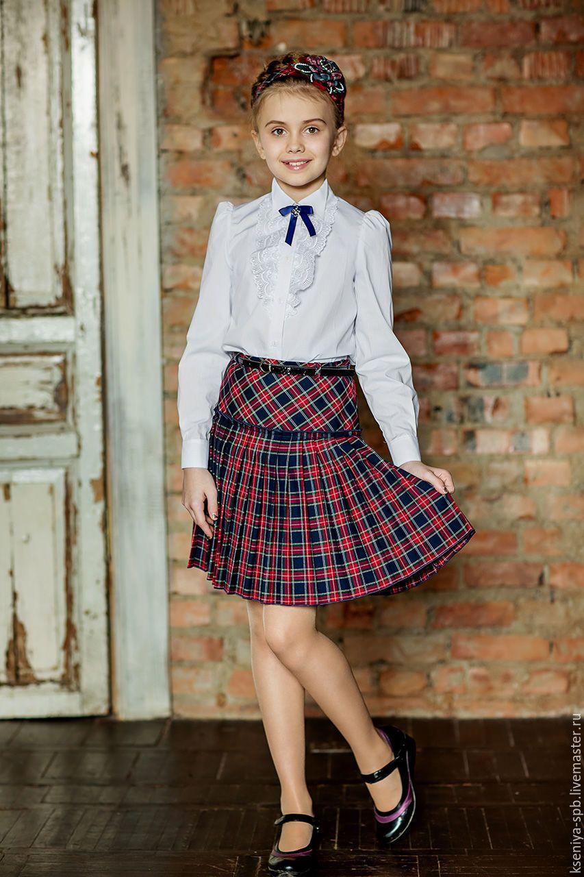 Купить юбку красную клетку-шотландку