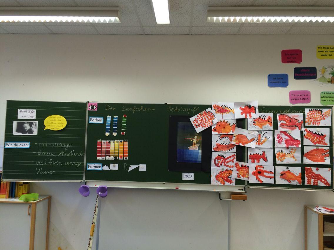 Der Seefahrer ( Paul Klee ) Grundschule | Tafelbild Grundschule ...