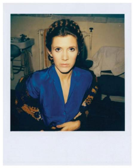 Polaroid photo of Carrie on set // these must've been so important to keep the continuity rolling correctly