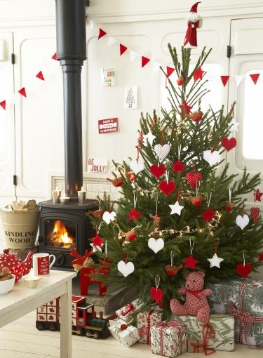 red and white country christmas