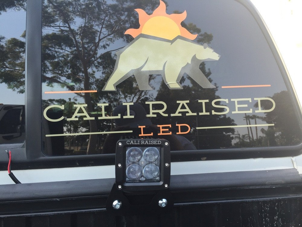 Cali Raised Toyota Truck Bed Rail LED Pod Mounting