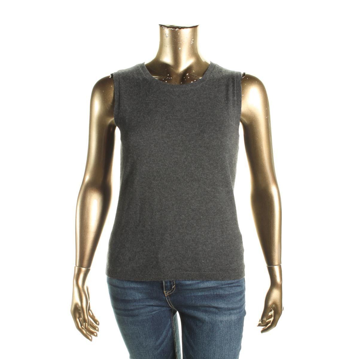 Private Label Womens Cashmere Crew Neck Sweater Vest | Sweater ...