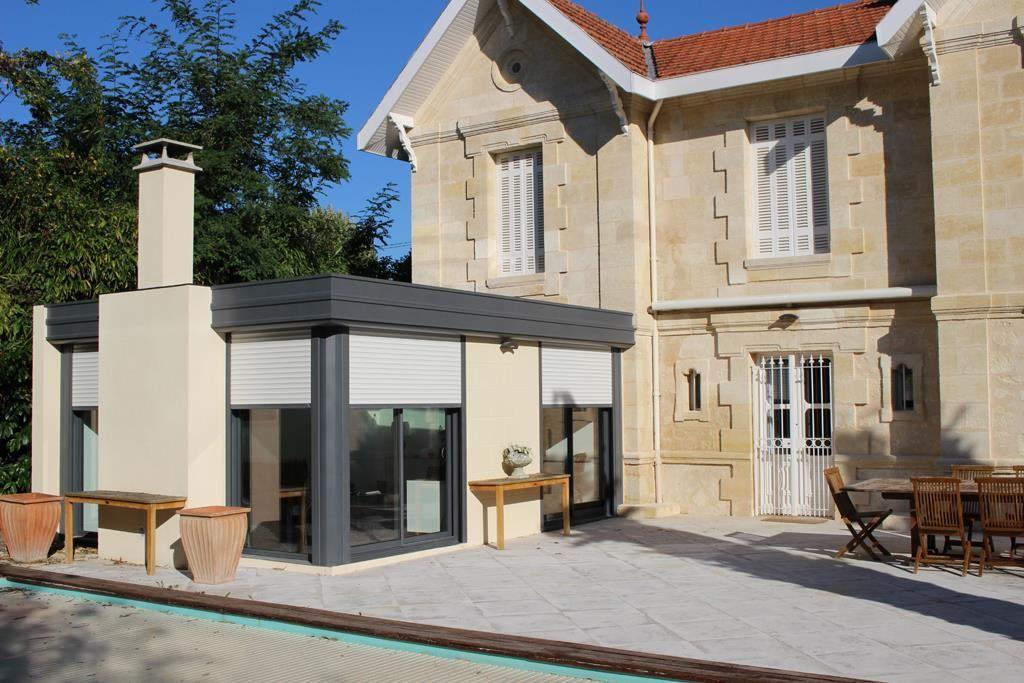 Extension véranda avec toiture plate séparations maisons et - prix pour extension maison