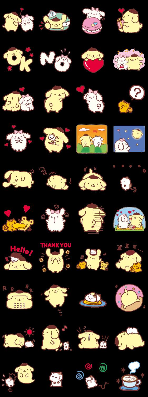 画像 - Pompompurin and Friends by Sanrio - Line.me | Genre (Emoji ...