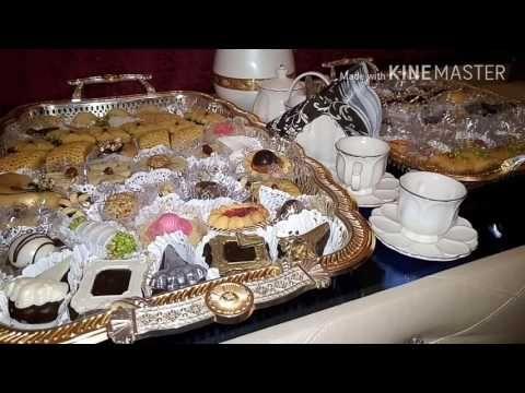 نقدم لكم بمناسبة عيد الفطر المبارك أم أسيل تهنئ كل متتبعيها و تقدم لكم طاولة العيد كل عام و انتم بخير من تحضير مطبخ ام اسيل المقادير مدكورة في الفيديو ش