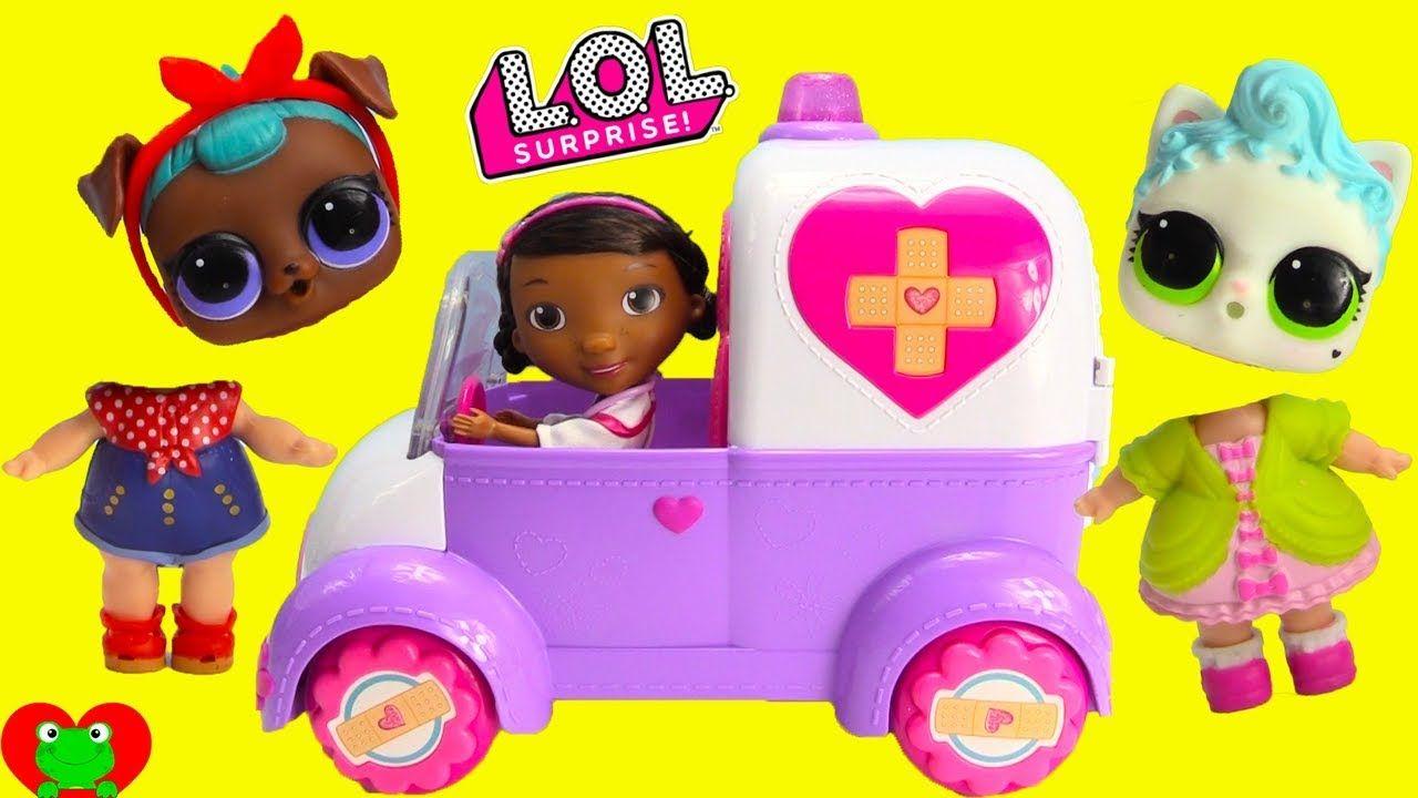 Lol Surprise Pets Dolls Wrong Heads Doc Mcstuffins Rosie Rescue Emergency Lol Dolls Lol Toy Car