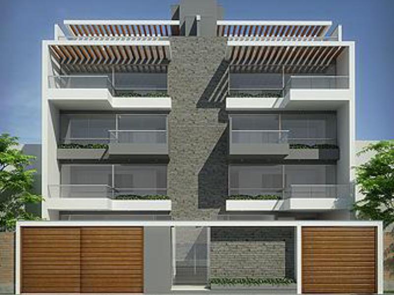 Fachadas de casas de tres pisos modernas lindas for Fachadas de departamentos modernos