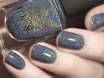 Industrial Park - Neutral Denim Blue Holographic Sheer Jelly Nail Polish by ILNP