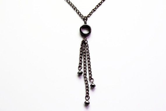 Black & White & Hematite by Dorothy on Etsy