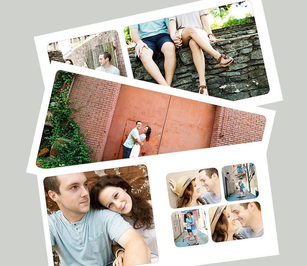 Classic Wedding Album Design: Rounded Corner Square Album Template For Whcc