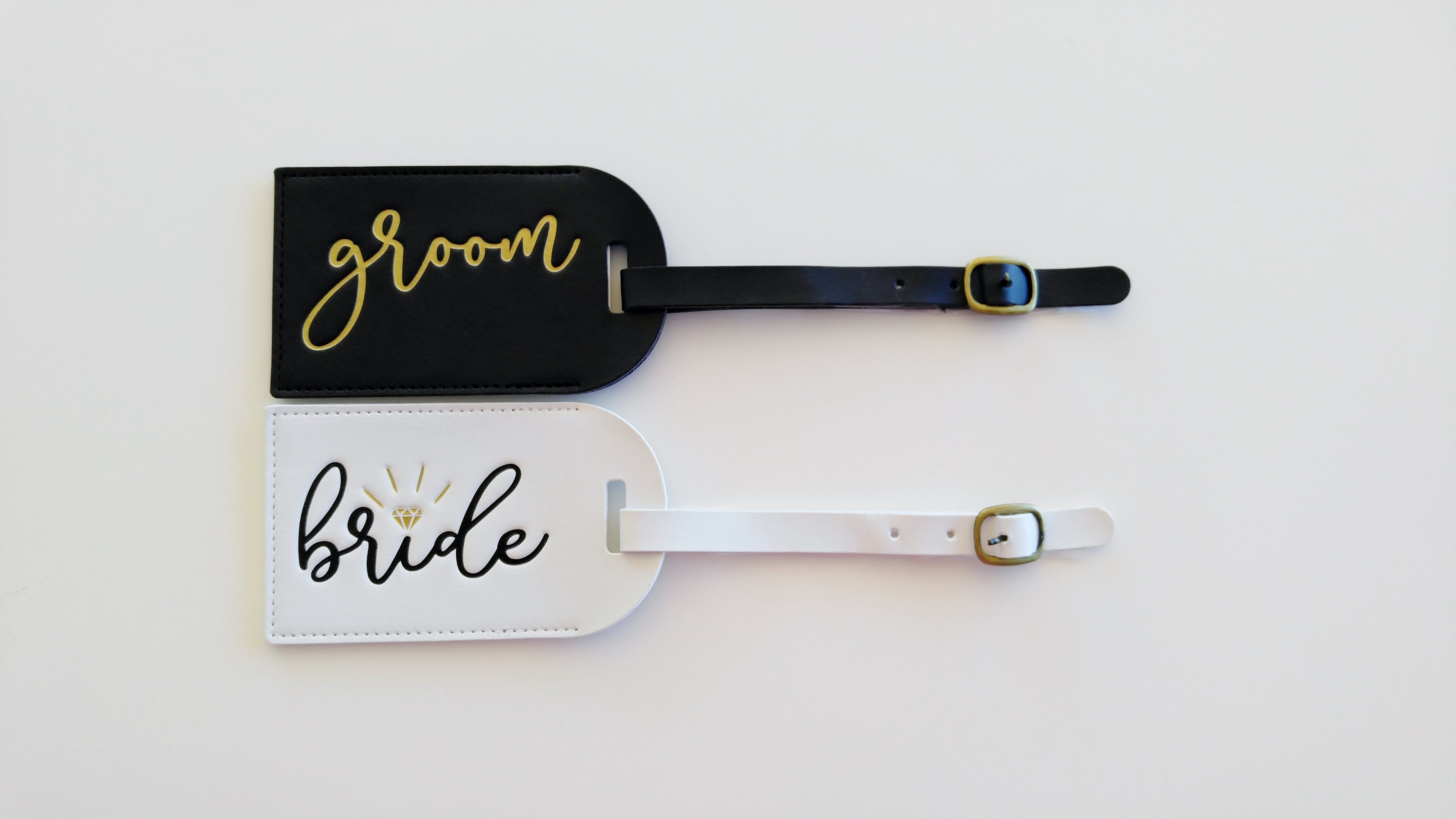 Bride and Groom Luggage Tags Mr and Mrs Luggage Tags Honeymoon ...