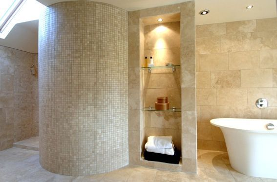 Bathroom stone tile gallery - Terzetto Natural Stone wall, floor and