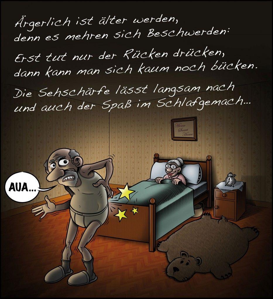 Illustration Altes Ehepaar im Schlafzimmer | Altes ehepaar ...