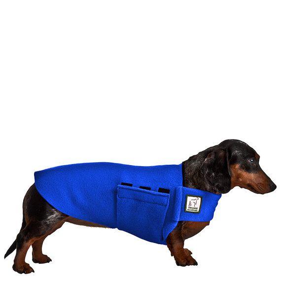 MINIATURE DACHSHUND Tummy Warmer, Fleece Dog Coat, Fleece Sweater ...