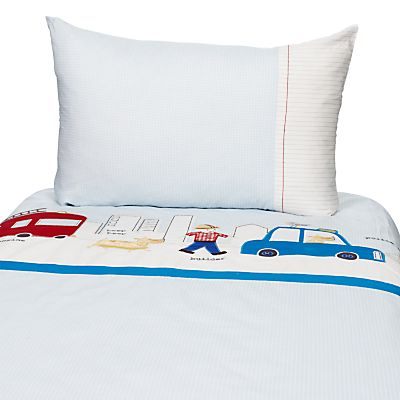 John Lewis Men At Work Cotbed Duvet Cover And Pillow Set Online Johnlewis