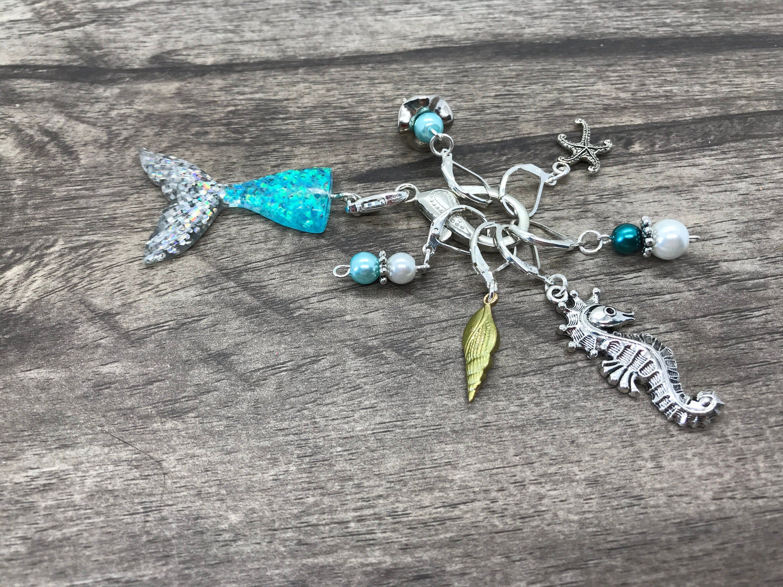 Mermaid Knitting Stitch Marker Charms