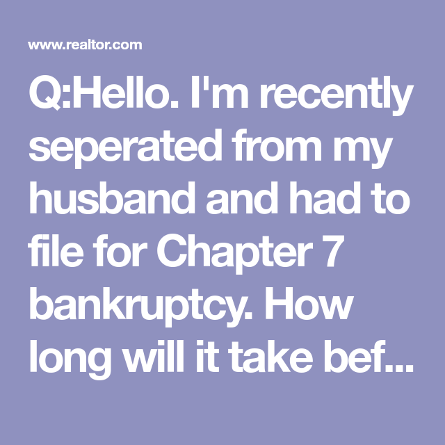 Buying a House After Bankruptcy? How Long to Wait and What ...