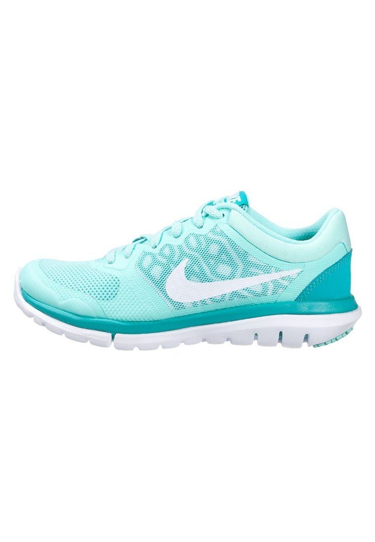 Nike Performance FLEX 2015 RUN - Cushioned running shoes - artisan teal/ white/light retro for with free delivery at Zalando