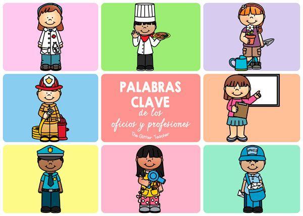 Updated Tarjetas De Vocabulario Y Talking Flash Cards De Los Trabajos Oficios Y Profesiones Oficios Vocabulario