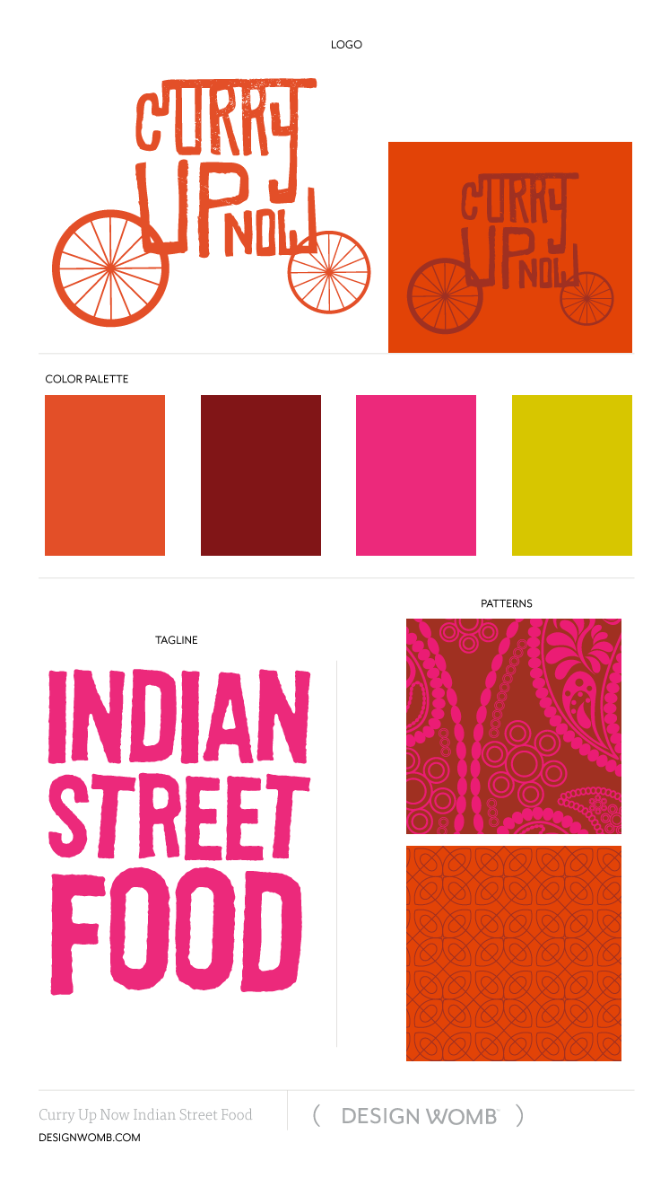 Brand Board Curry Up Now Indian Street Food By Designwomb Com