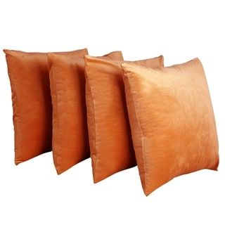 20x20 inches Bright Orange Cushion Cover Pillow Case Polyester solid color