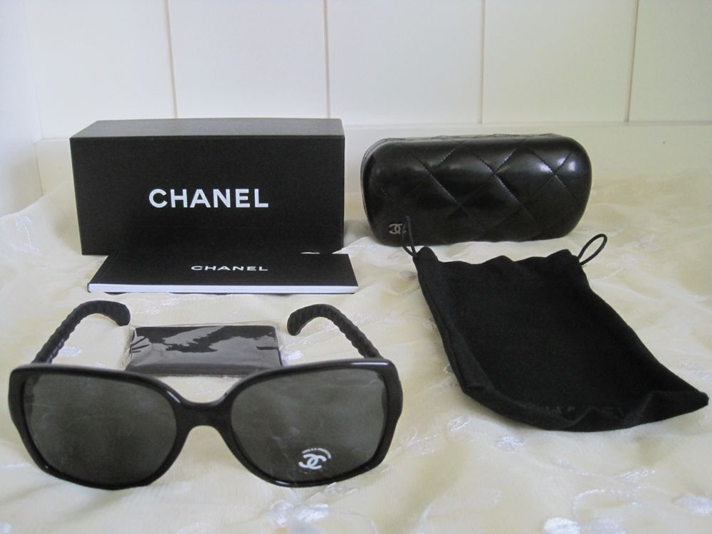 9ab121b194 Chanel Womens Sunglasses 5289Q C501 S4 Black Square Quilted Summer Chic  Italy  CHANEL  Square