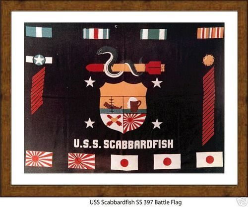 Details about USS Scabbardfish SS 397 --WW2 Submarine Battle Flag