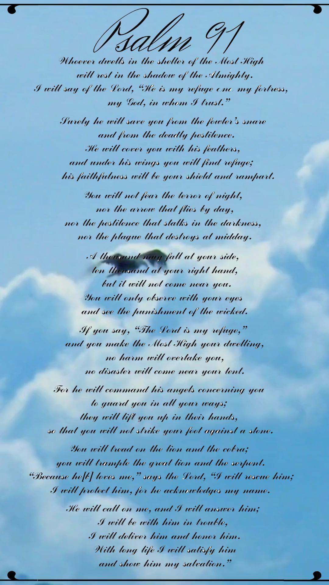 Psalm 91 | scripture sign | Bible Verse