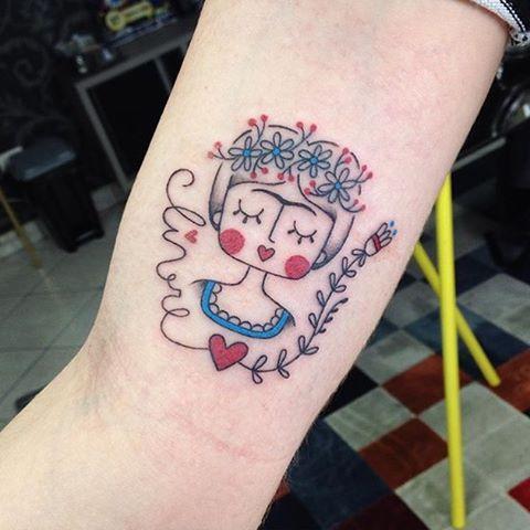 #fridakahlo by @dani.bianco_tattoo /// #⃣#Equilattera #Tattoo #Tattoos #Tat…