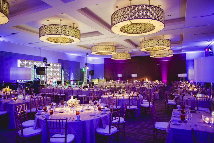 Wedding Mad Men Themed 1960s Purple Gold