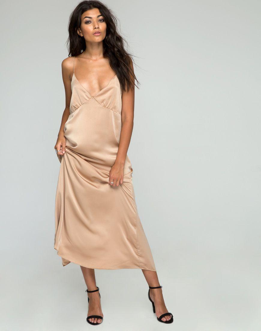 Gold satin maxi dress my best dresses pinterest maxi prom