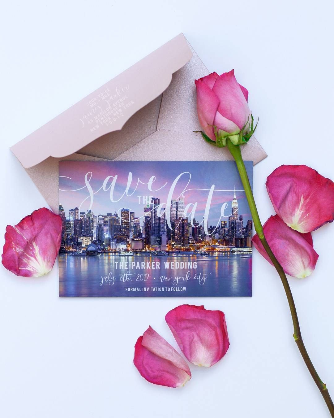 Save the date city skyline 1550 Likes 12 Comments Wedding – Wedding Chicks Save the Date