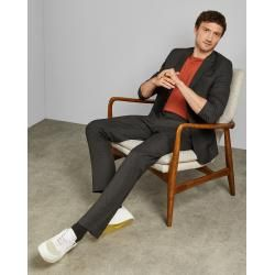 Photo of Textured slim fit pants Ted Baker