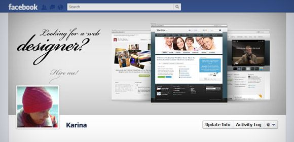 Free PSD. Here is creative presentation on your Facebook Timeline ...
